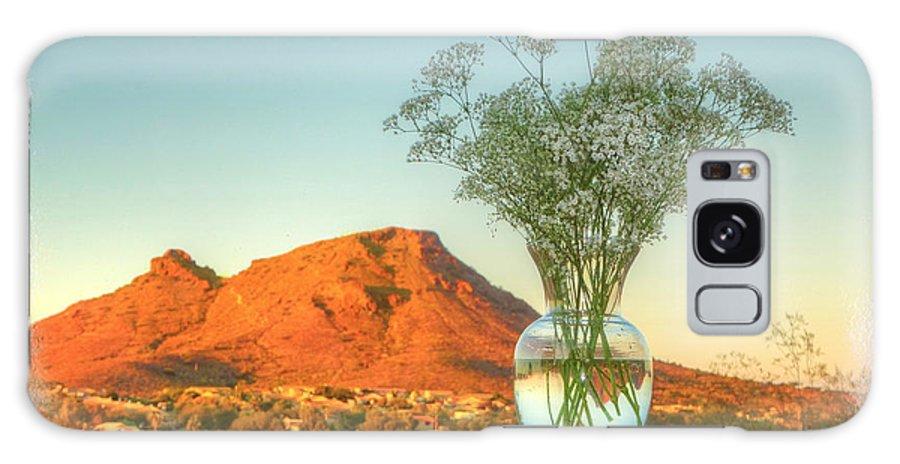 Still Life With Landscape Galaxy S8 Case featuring the digital art Still Life With Landscape by Rick Lloyd