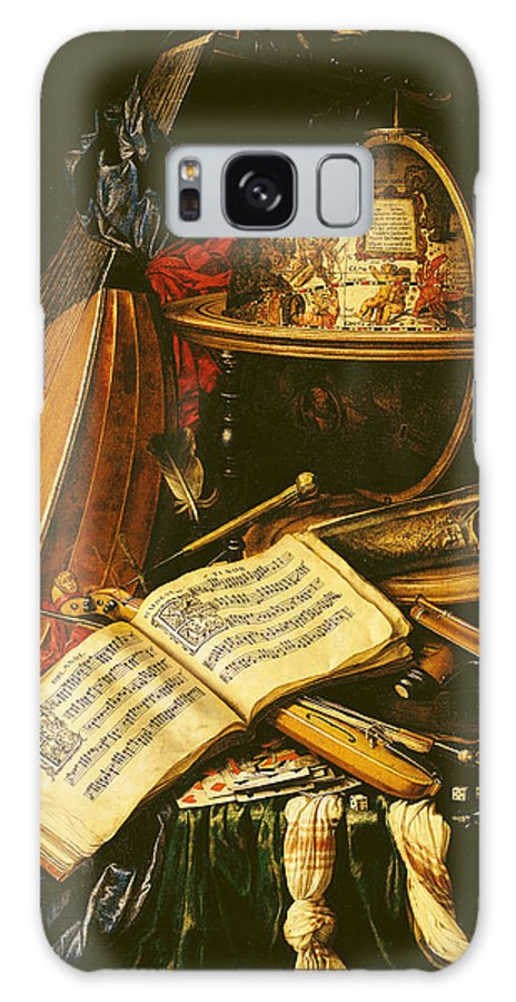 Globe Galaxy S8 Case featuring the photograph Still Life With Musical Instruments Oil On Canvas by Flemish School