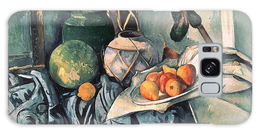 Post-impressionist Galaxy S8 Case featuring the photograph Still Life With Pitcher And Aubergines Oil On Canvas by Paul Cezanne