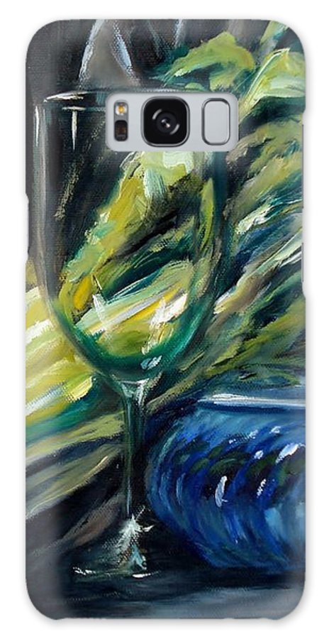 Still Life Galaxy S8 Case featuring the painting Still Life With Yellow Pepper Bok Choy Glass And Dish by Donna Tuten