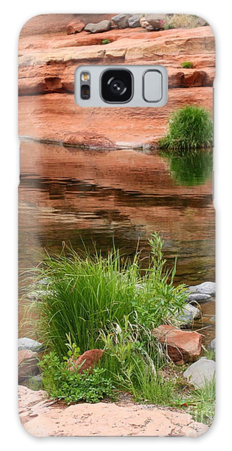 Sedona Galaxy S8 Case featuring the photograph Still Waters At Slide Rock by Carol Groenen