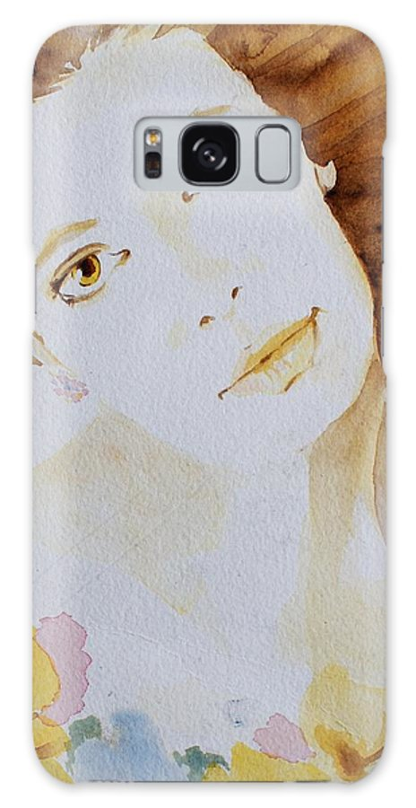 Watercolour Galaxy Case featuring the painting Still Waters' Reflection by Janice Gell