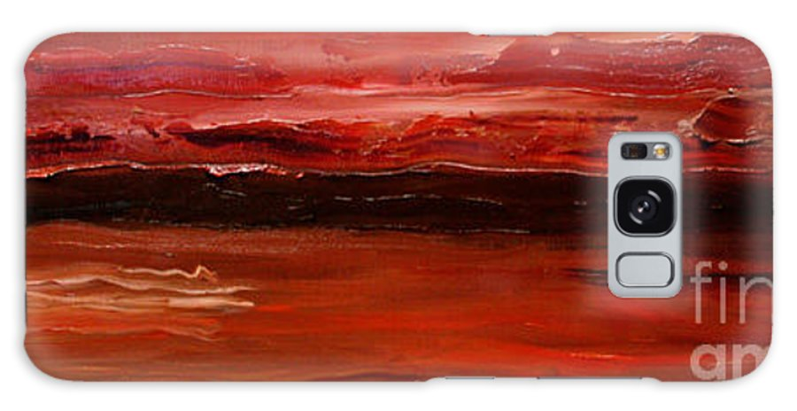 Abstract Galaxy Case featuring the painting Stimulus - Sold by Paul Anderson