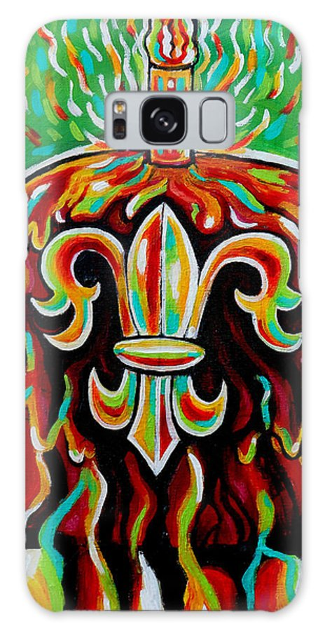 Stl250 Cakeway To The West Payne Gentry House Fleur De Lis Cake Galaxy S8 Case featuring the painting Stl250 Fleur De Lis Cake Payne Gentry House 2 by Genevieve Esson
