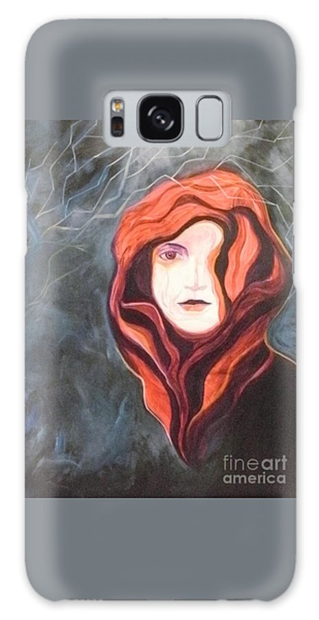 Woman Galaxy S8 Case featuring the painting Stoic by Carolyn LeGrand