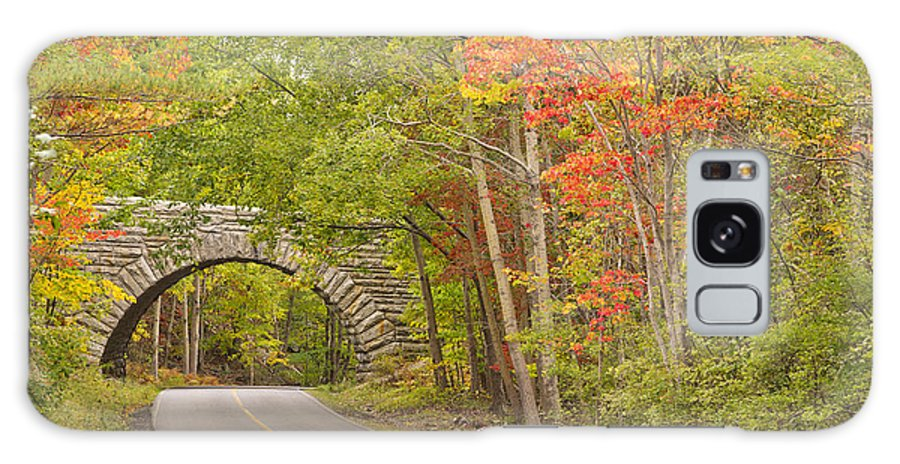 Bridge Galaxy S8 Case featuring the photograph Stone Arch Bridge In Acadia National Park by Ken Brown
