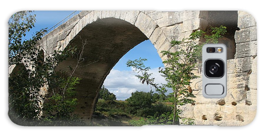 Roman Stonebridge Galaxy S8 Case featuring the photograph Stone Arch Of Pont St. Julien by Christiane Schulze Art And Photography