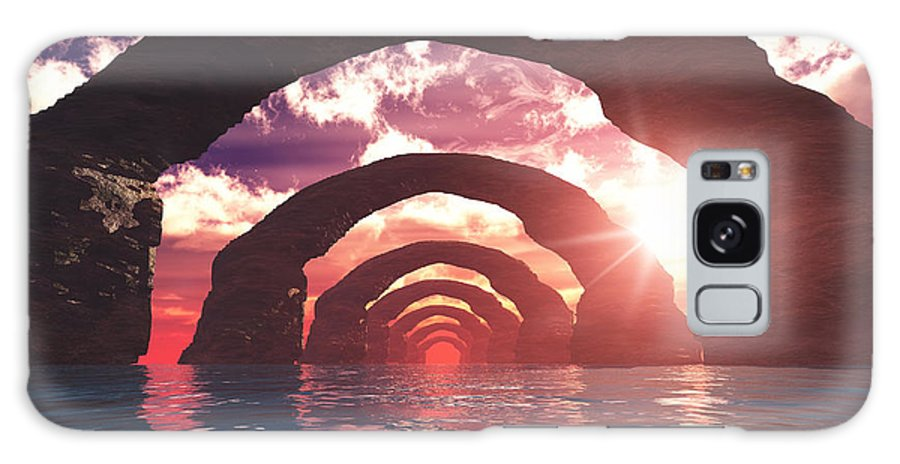 Stone Galaxy S8 Case featuring the digital art Stone Arch by Ralf Schreiber
