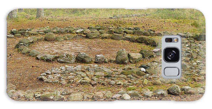 Abstract Galaxy S8 Case featuring the photograph Stone Circle by Karol Kozlowski