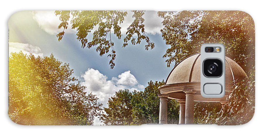 Peaceful Galaxy S8 Case featuring the photograph Stone Gazebo by Tom Gari Gallery-Three-Photography