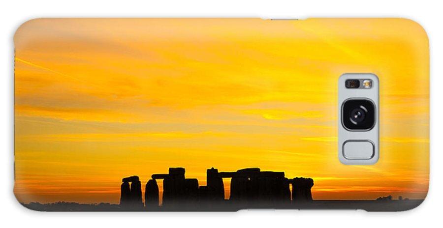 Stonehenge Sunset Galaxy S8 Case featuring the photograph Stonehenge Sunset by Ken Brannen