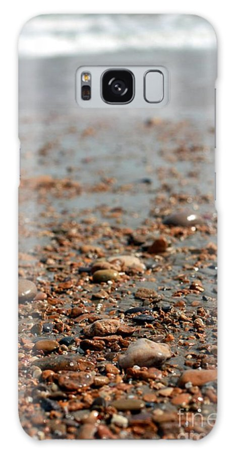 Lonely Galaxy S8 Case featuring the photograph Stones And Waves At Beach by Muhammad Junaid Rashid