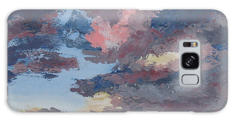 Stormy Sky Galaxy Case featuring the painting Storm A Brewin by Janis Mock-Jones