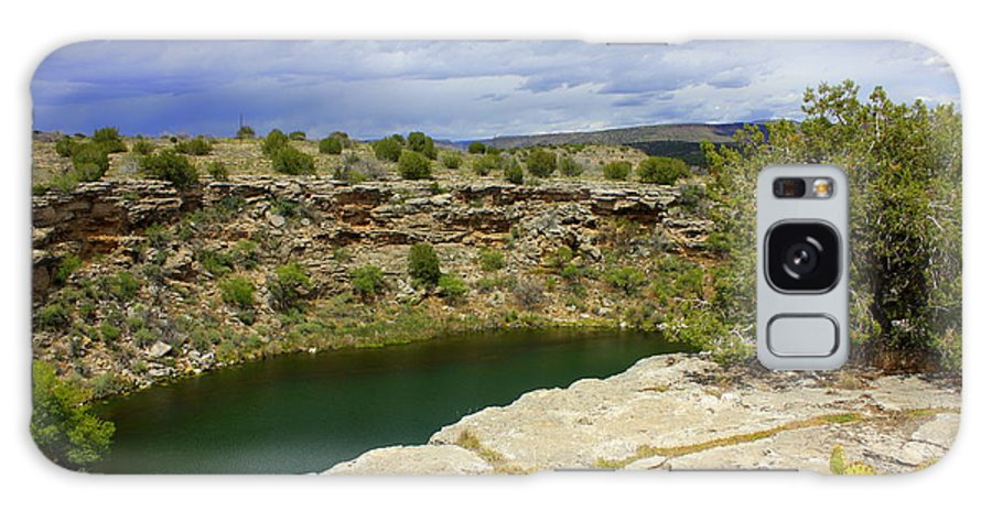 Verde Valley Galaxy S8 Case featuring the photograph Storm Clouds Over Montezuma Well by Carol Groenen