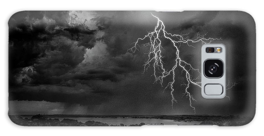 Outdoors Galaxy Case featuring the photograph Storm Over Benbrook Lake by Dean Fikar