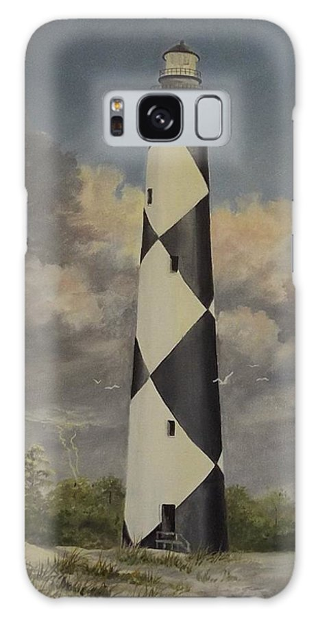 Stormy Skys Galaxy S8 Case featuring the painting Storm Over Cape Fear by Wanda Dansereau
