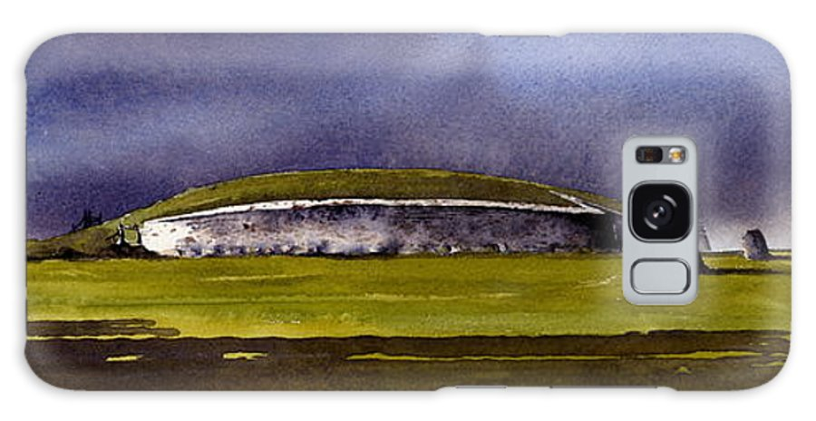 Ireland Galaxy S8 Case featuring the painting Storm Over Newgrange by Roland Byrne
