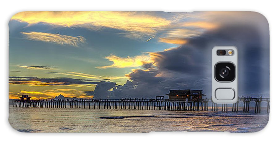 Naples Galaxy S8 Case featuring the photograph Storm Over The Pier by Sean Allen