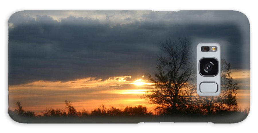 Sunrise Galaxy S8 Case featuring the photograph Stormy Sunrise by Rick De Wolfe