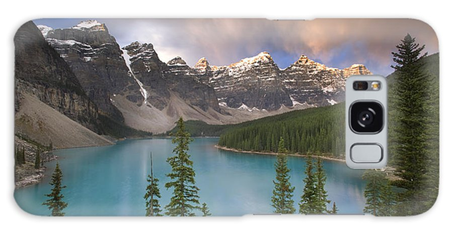 Canada Galaxy S8 Case featuring the photograph Stormy Weather Over Moraine Lake by Quynh Ton