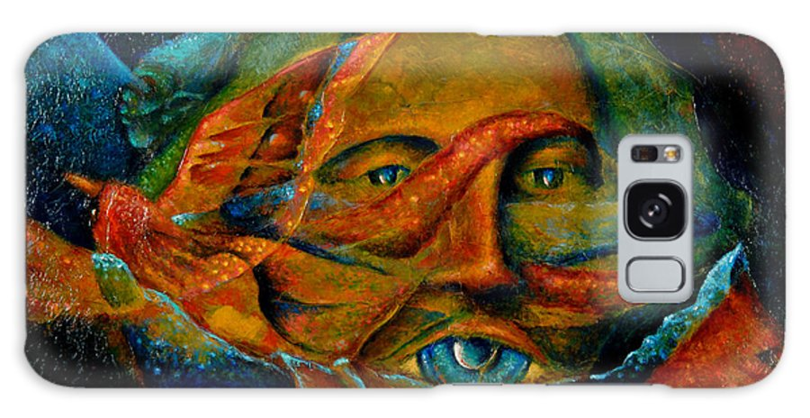 Native American Galaxy S8 Case featuring the painting Storyteller by Kevin Chasing Wolf Hutchins