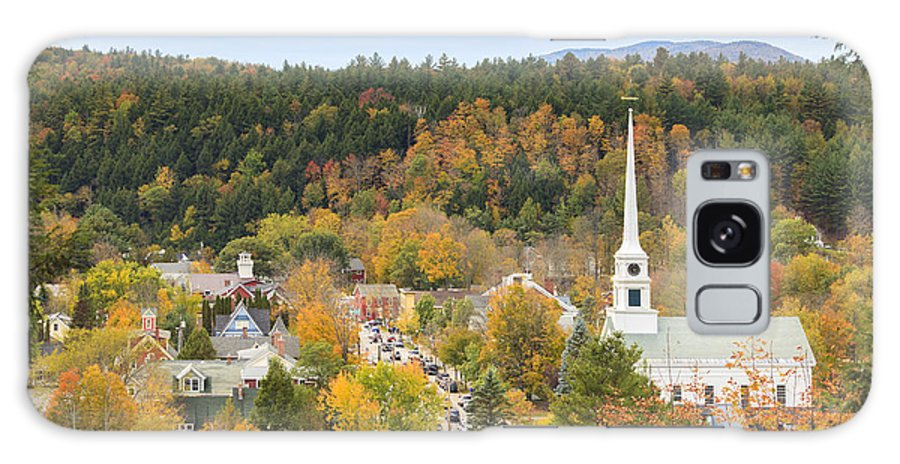 Vermont Galaxy S8 Case featuring the photograph Stowe Vermont Aerial by Ken Brown