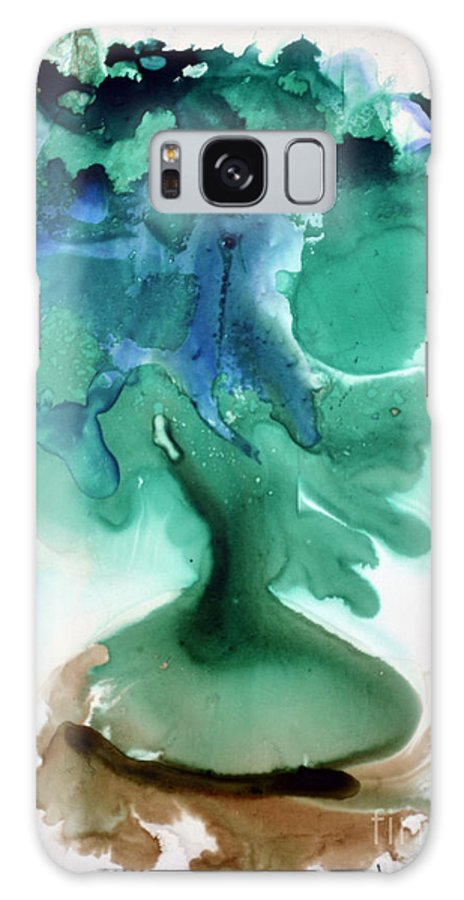 Green Galaxy S8 Case featuring the painting Strange Compote by Joan Hartenstein