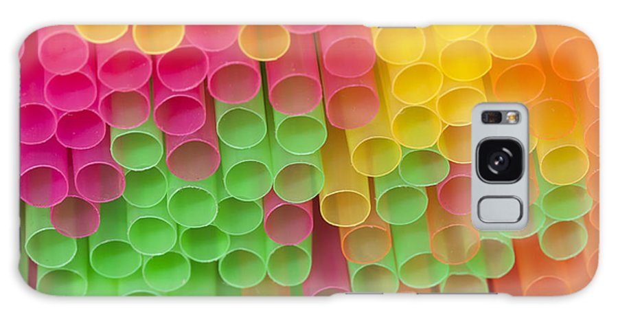 Sipper Galaxy S8 Case featuring the photograph Straws by Michal Boubin