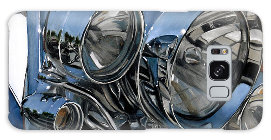Motorcycle Galaxy S8 Case featuring the painting Streetlights by Jack Atkins