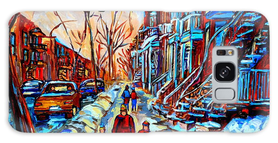 Montreal Galaxy Case featuring the painting Streets Of Montreal by Carole Spandau