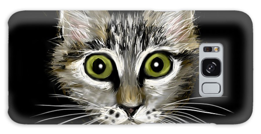 Cat Galaxy S8 Case featuring the painting Strengthening Cat by Jean Pacheco Ravinski