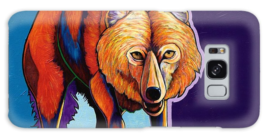 Contemporary Galaxy Case featuring the painting Strictly Business - Arctic Wolf by Joe Triano