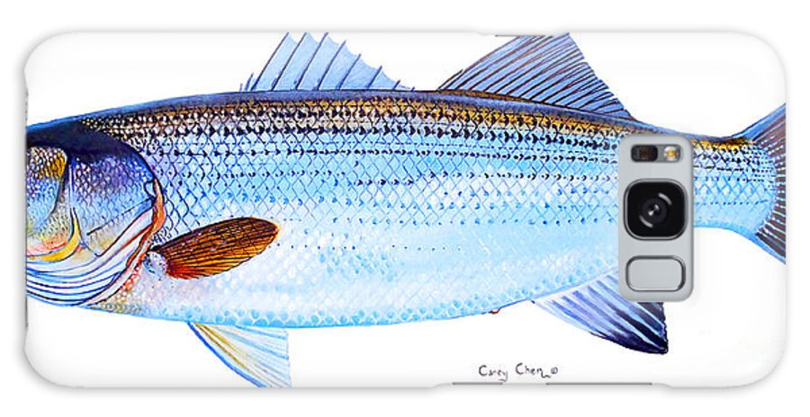 Striped Bass Galaxy S8 Case featuring the painting Striped Bass by Carey Chen
