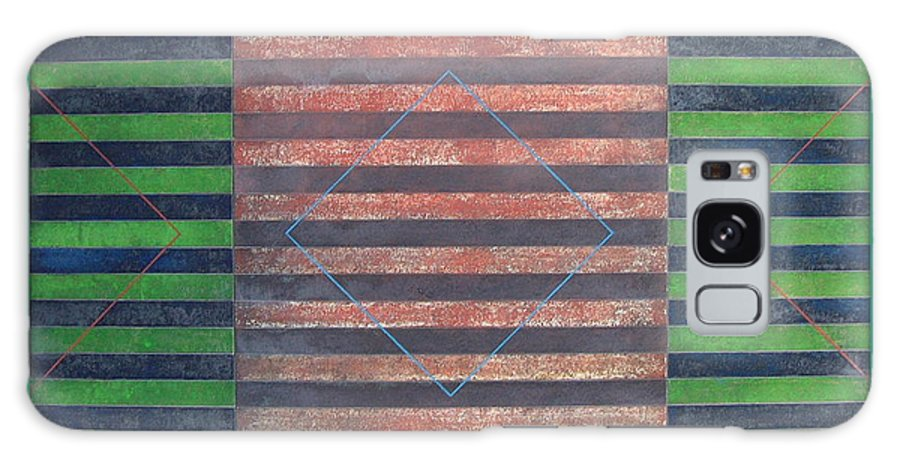 Stripes Galaxy S8 Case featuring the painting Striped Triptych No.5.03 by Peter-hugo Mcclure