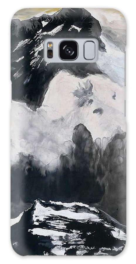 Mountain Galaxy S8 Case featuring the painting Strong Life In The Clouds by Min Wang
