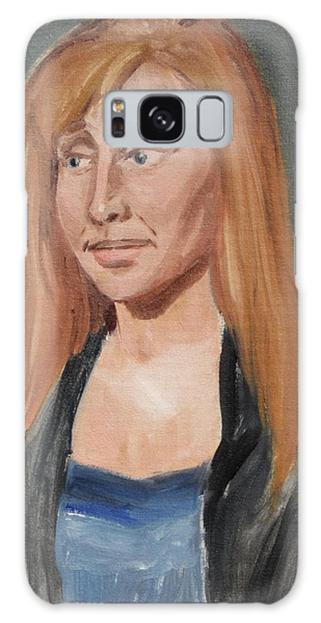 Blouse Galaxy S8 Case featuring the painting Study Of A Young Woman In A Black Sweater by Jeffrey Oleniacz