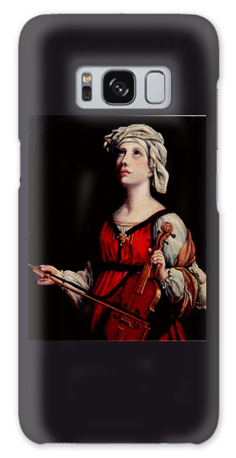 People Galaxy S8 Case featuring the painting Study Of St. Cecelia by Donna Tucker