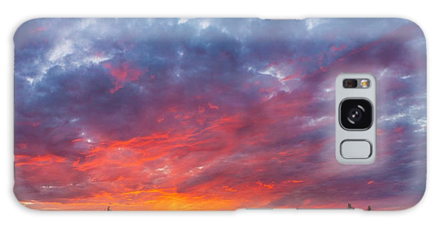 Sunset Galaxy S8 Case featuring the photograph Stunning Sunset by Thomas Nay