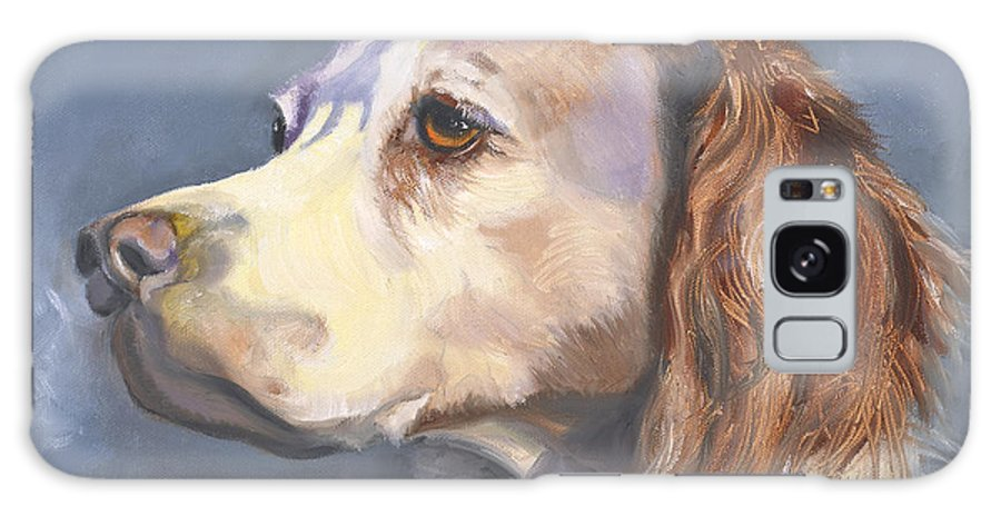 Spaniel Galaxy S8 Case featuring the painting Such A Spaniel by Susan A Becker