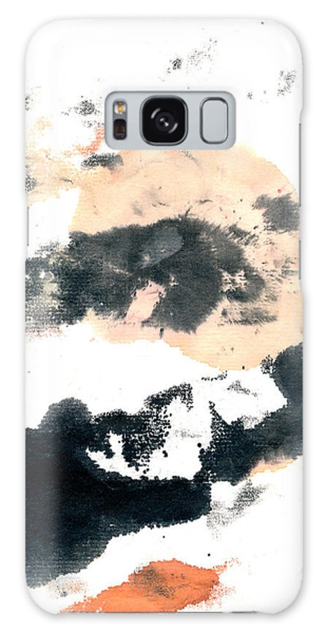 Sumi Abstract Galaxy S8 Case featuring the painting Sumi Abstract by Janet Gunderson
