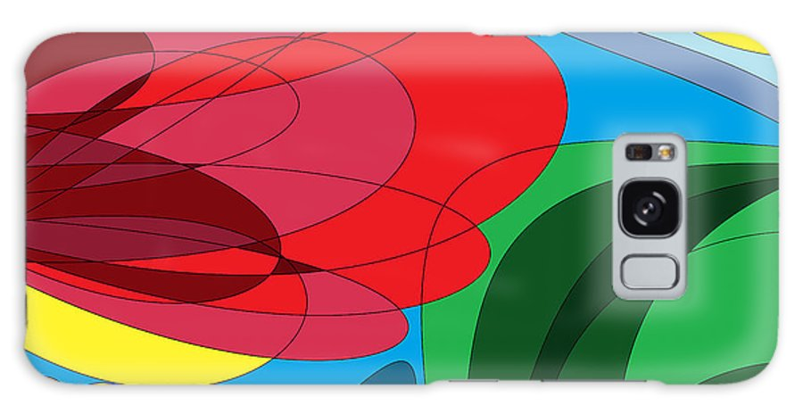 Summer Abstract Galaxy S8 Case featuring the digital art Summer Abstract by Mhiss Little