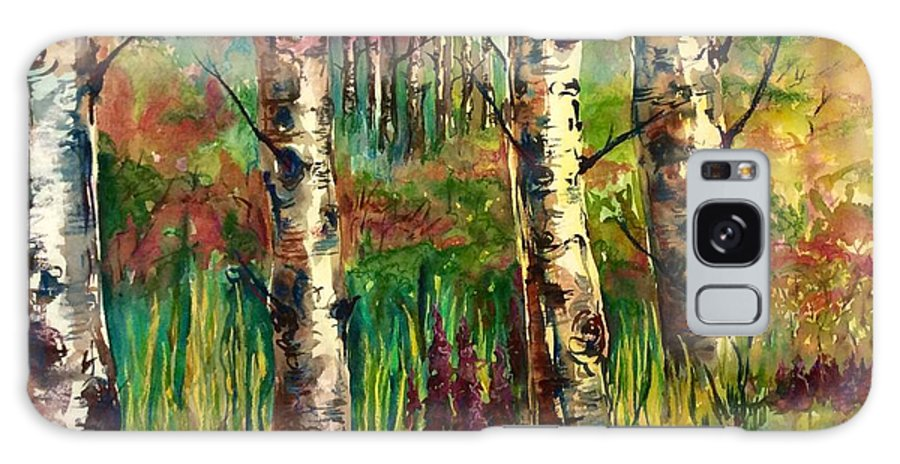 Trees Galaxy S8 Case featuring the painting Summer Birch by Wendy Meeres