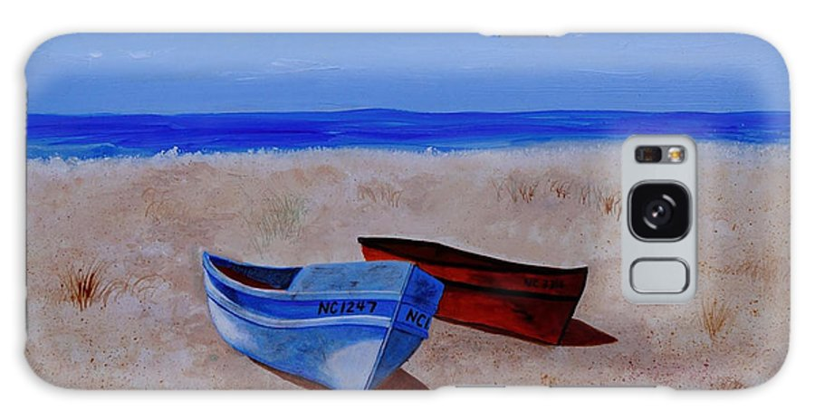 Boat Galaxy S8 Case featuring the painting Summer Boats by Van Bunch