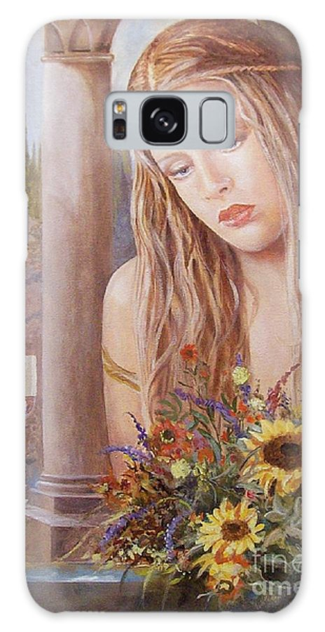 Portrait Galaxy Case featuring the painting Summer Day by Sinisa Saratlic