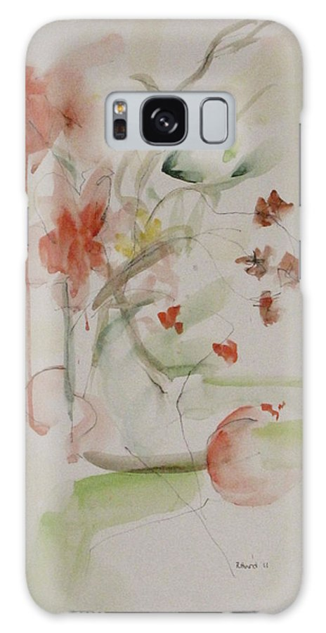 Summer Galaxy S8 Case featuring the painting Summer Flowers by Ruth Hurd