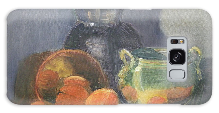 Still Life Galaxy S8 Case featuring the painting Summer Oranges by Lilibeth Andre