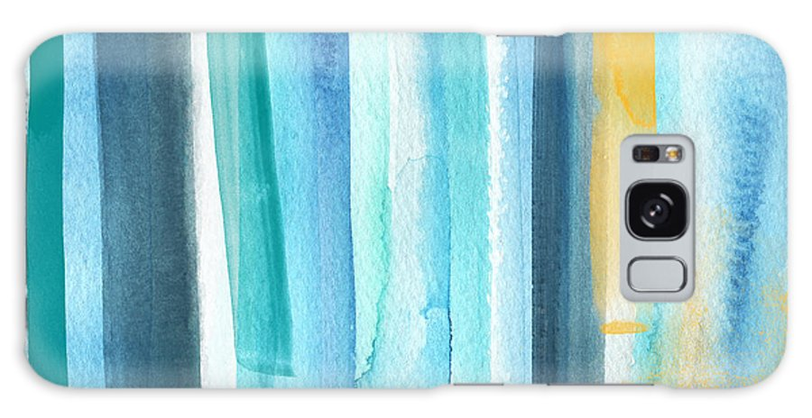 Water Galaxy Case featuring the painting Summer Surf- Abstract Painting by Linda Woods