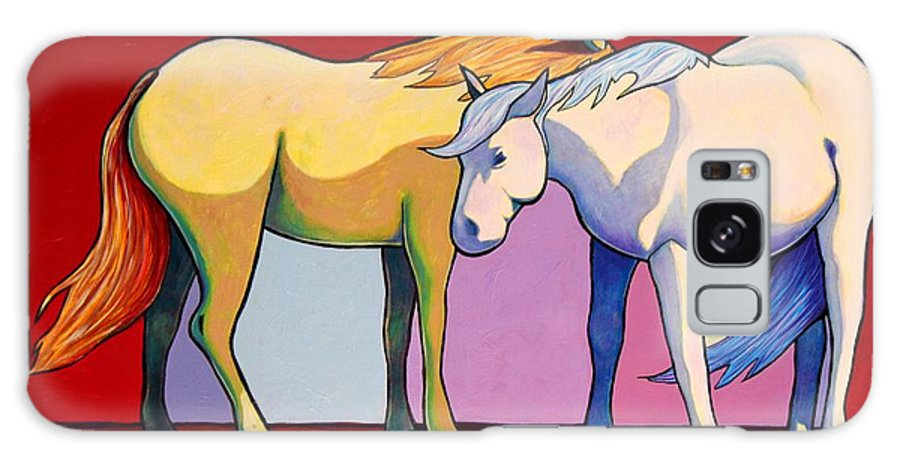 Wildlife Galaxy Case featuring the painting Summer Winds - Mustangs by Joe Triano