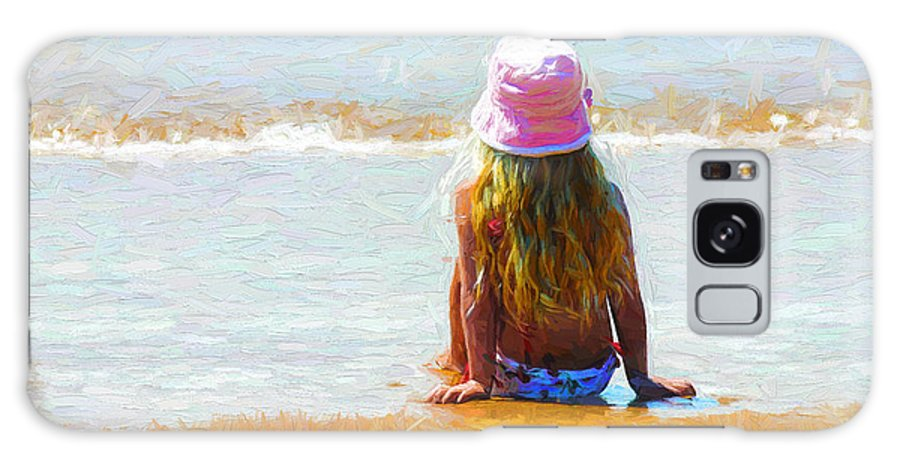 Little Girl On Beach Galaxy Case featuring the photograph Summertime by Sheila Smart Fine Art Photography