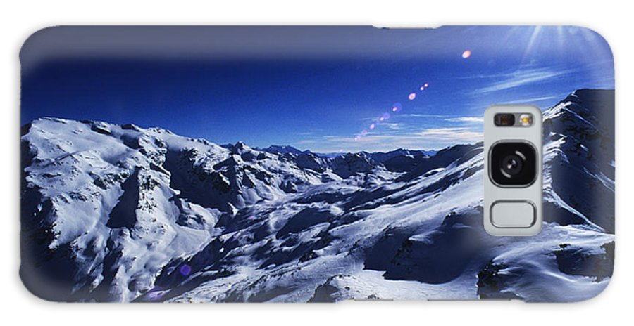 Alps Galaxy S8 Case featuring the photograph Summit Of The Italian Alps In Winter by Austin Brown